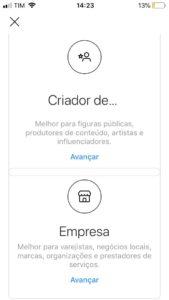 Como mudar sua conta no Instagram para comercial - detalhes