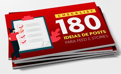 checklist 180 ideias de conteudos